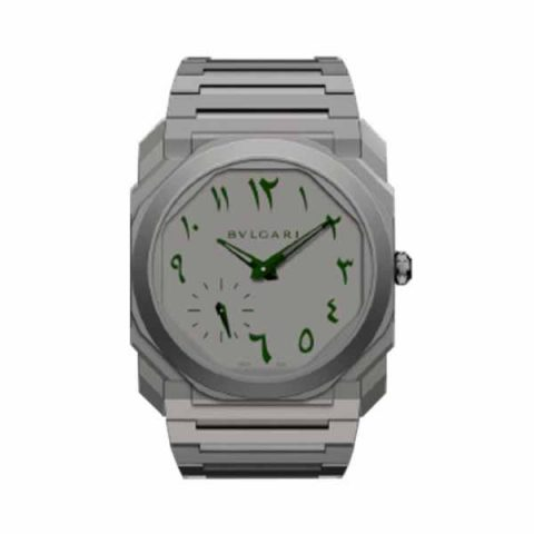 BVLGARI OCTO FINISSIMO EXTRA THIN ARABIC 40MM STAINLESS STEEL MEN'S WATCH