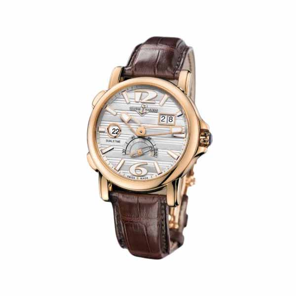ULYSSE NARDIN GMT BIG DATE 42MM 18KT ROSE GOLD MEN'S WATCH