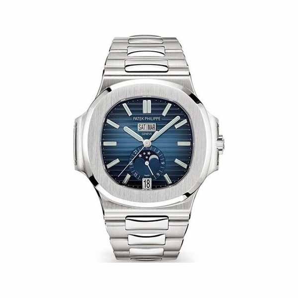 PATEK PHILIPPE NAUTILUS ANNUAL CALENDAR GRADIENT BLUE DIAL STAINLESS STEEL MEN'S WATCH Ref. 5726/1A-014