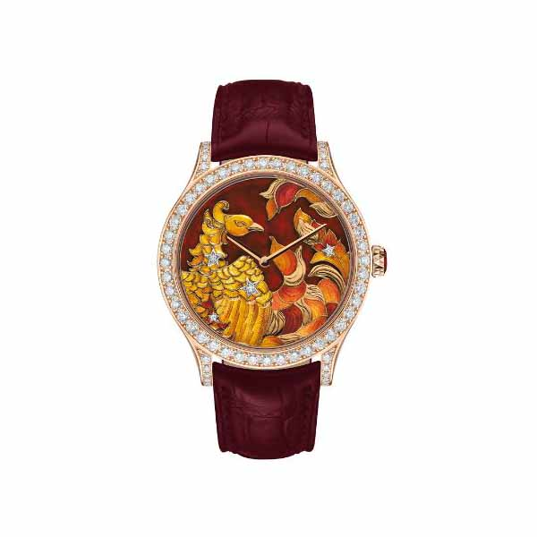 VAN CLEEF & ARPELS CADRAN EXTRAORDINAIRE MIDNIGHT CONSTELLATION PHOENIX 42MM 18KT ROSE GOLD UNISEX WATCH
