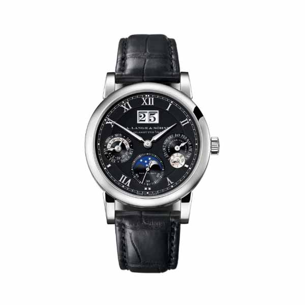 A LANGE & SOHNE LANGEMATIK PERPETUAL CALENDAR 38.5MM 18KT WHITE GOLD MEN'S WATCH