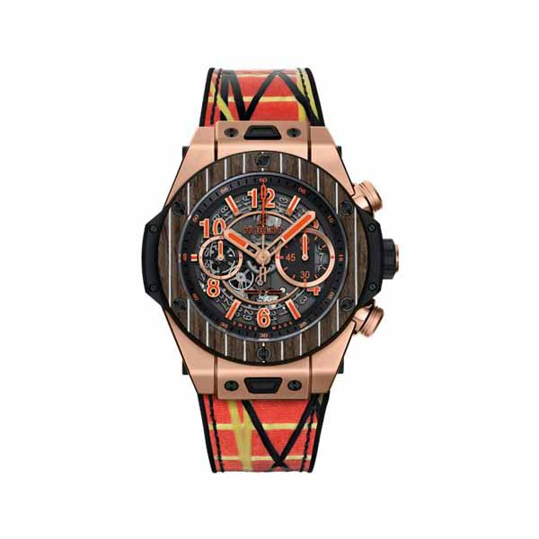 HUBLOT BIG BANG UNICO TEAK ITALIA INDEPENDENT LIMITED EDITION OF 100 PCS 45MM MEN'S WATCH