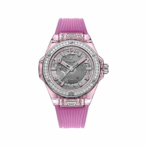 HUBLOT BIG BANG ONE CLICK PINK SAPPHIRE DIAMONDS LIMITED EDITION OF 200 39MM LADIES WATCH
