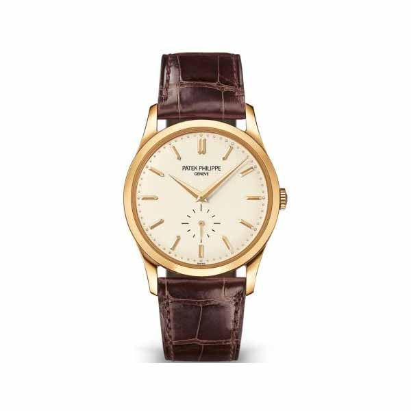 PATEK PHILIPPE CALATRAVA MECHANICAL OPALINE 37MM 18KT YELLOW GOLD MEN'S WATCH