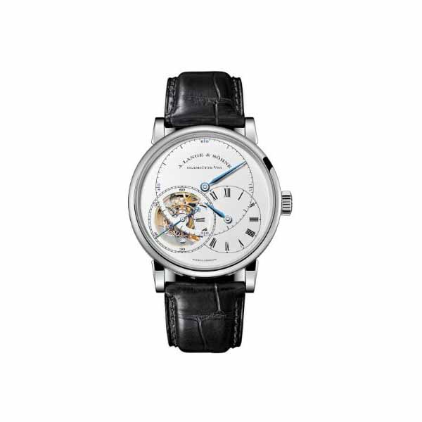 "A LANGE & SOHNE RICHARD LANGE TOURBILLON ""POUR LE MERITE"" 41.9MM 18KT WHITE GOLD MEN'S WATCH"