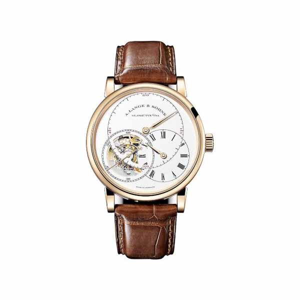 A LANGE & SOHNE RICHARD LANGE TOURBILLON POUR LE MERITE 41.9MM 18KT ROSE GOLD MEN'S WATCH