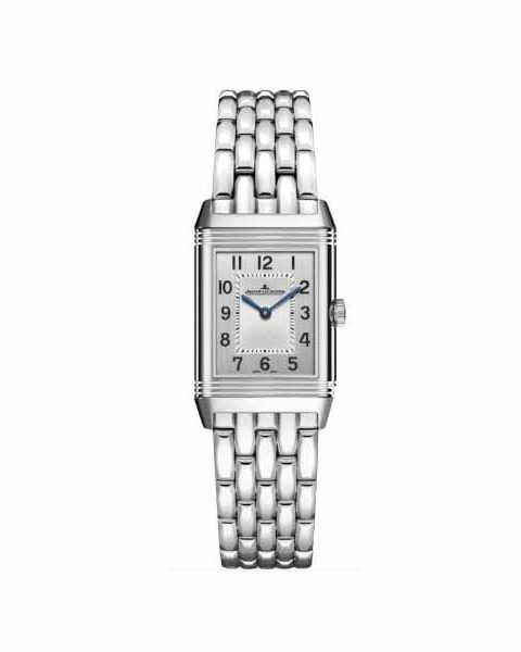 JAEGER LECOULTRE REVERSO CLASSIC SMALL DUETTO 34.2MM X 21MM STAINLESS STEEL LADIES WATCH