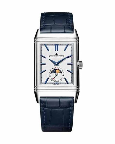 JAEGER LECOULTRE REVERSO TRIBUTE MOON 49.7MM X 29.9MM STAINLESS STEEL MEN'S WATCH