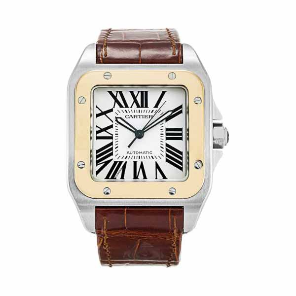 CARTIER SANTOS 38MM 18KT YELLOW GOLD & STAINLESS STEEL MEN'S WATCH