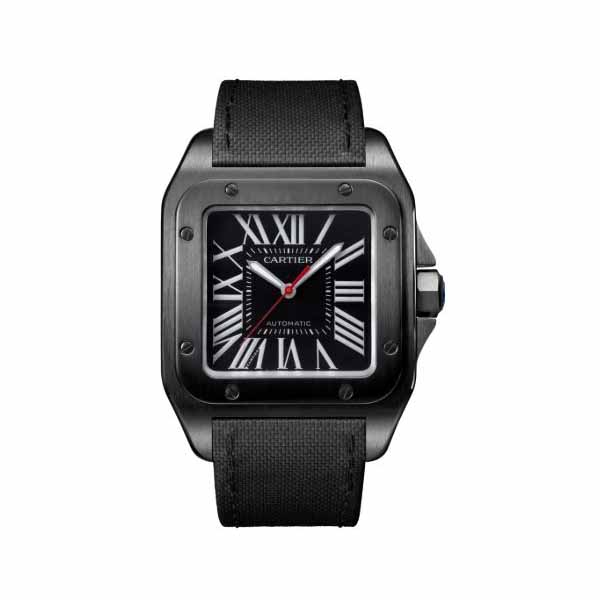 CARTIER SANTOS 100 51.1MM X 41.3MM STAINLESS STEEL & ADLC MEN'S WATCH