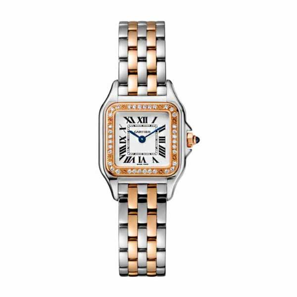 CARTIER PANTHERE DE CARTIER 22MM X 30MM STAINLESS STEEL/18KT ROSE GOLD LADIES WATCH