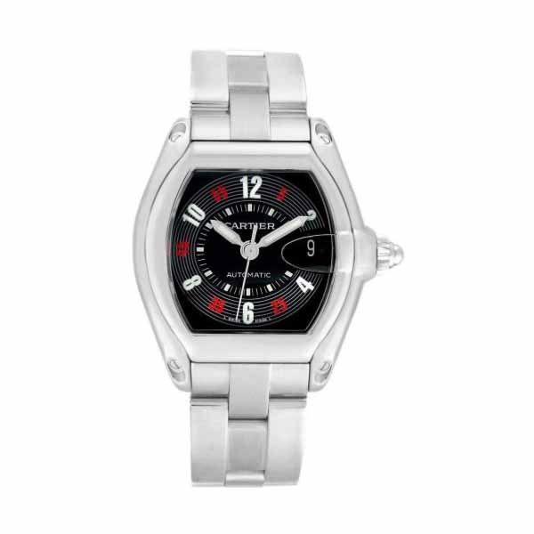 CARTIER ROADSTER 38MM STAINLESS STEEL MEN'S WATCH