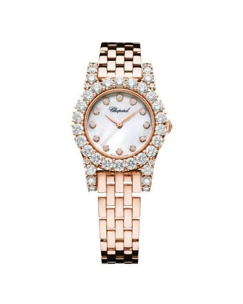 Chopard Pre-owned L'heure Du Diamant 30mm 18kt Rose Gold Ladies Watch