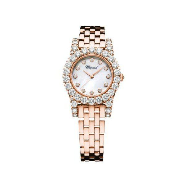 CHOPARD L'HEURE DU DIAMANT 30MM 18KT ROSE GOLD LADIES WATCH