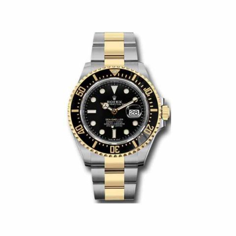 PROFESSIONAL ROLEX SEA DWELLER 18KT YELLOW GOLD/STAINLESS STEEL 43MM MEN'S WATCH