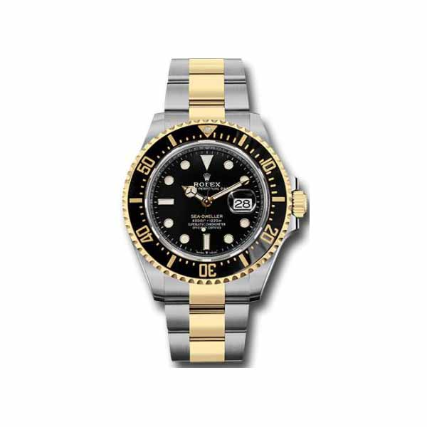 ROLEX SEA DWELLER 18KT YELLOW GOLD/STAINLESS STEEL 43MM MEN'S WATCH