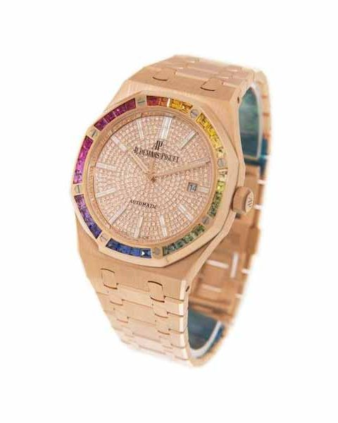 AUDEMARS PIGUET ROYAL OAK RAINBOW 41MM 18KT ROSE GOLD UNISEX WATCH