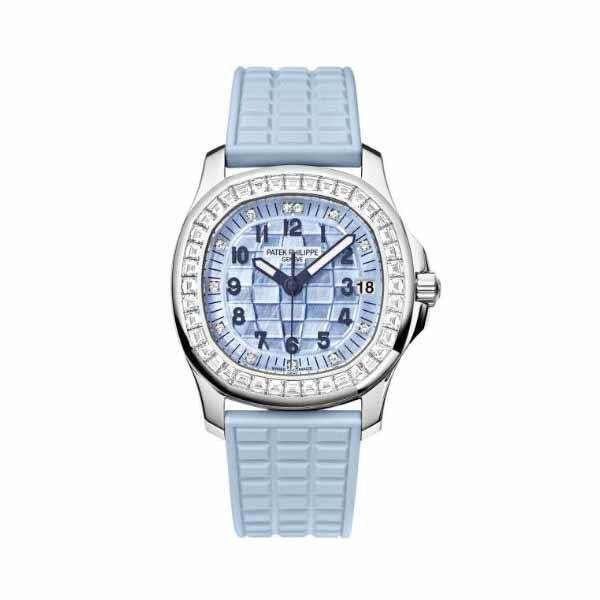 PATEK PHILIPPE AQUANAUT 36MM 18KT WHITE GOLD LADIES WATCH
