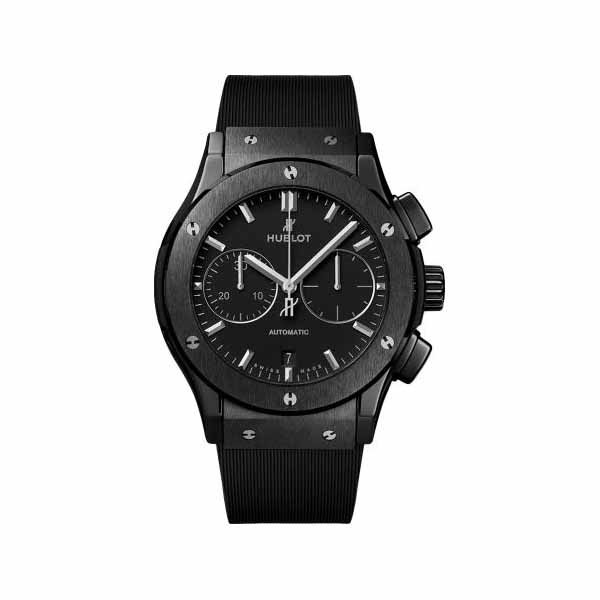 HUBLOT CLASSIC FUSION CHRONOGRAPH 45MM BLACK CERAMIC MEN'S WATCH