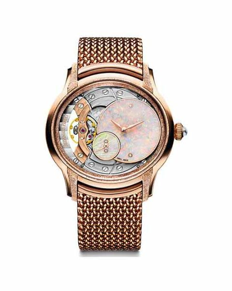 Audemars Piguet Pre-owned Millenary Frosted 18kt Rose Gold 39.5mm Ladies Watch
