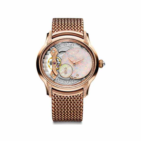 AUDEMARS PIGUET MILLENARY FROSTED 18KT ROSE GOLD 39.5MM LADIES WATCH