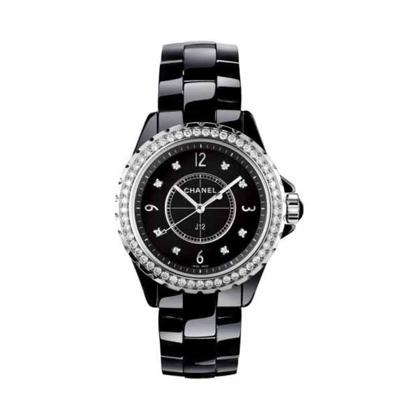 CHANEL J12 33MM BLACK CERAMIC LADIES WATCH