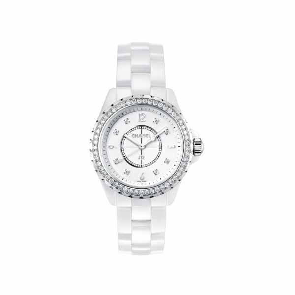 CHANEL J12 WHITE CERAMIC 33MM LADIES WATCH