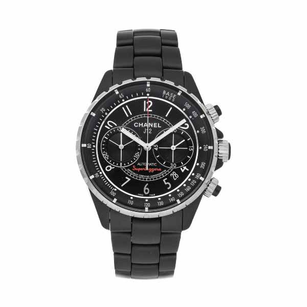CHANEL J12 SUPERLEGGERA CHRONOGRAPH 41MM BLACK CERAMIC UNISEX WATCH