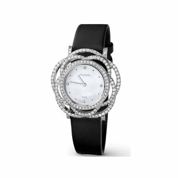 CHANEL 18KT WHITE GOLD WITH DIAMONDS LADIES WATCH