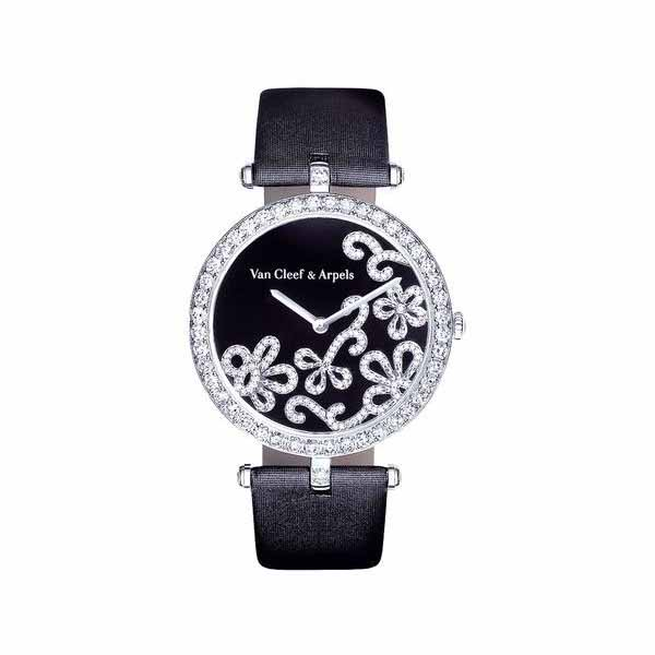 VAN CLEEF & ARPELS DENTELLE 36MM 18KT WHITE GOLD LADIES WATCH