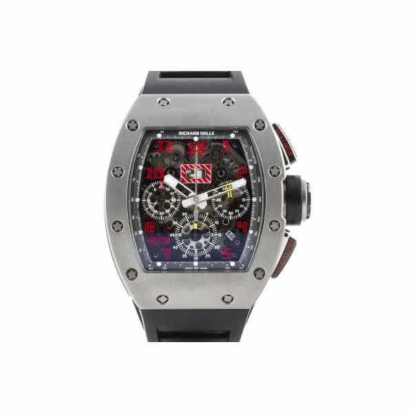 RICHARD MILLE FLYBACK CHRONOGRAPH 50MM X 40MM TITANIUM MEN'S WATCH