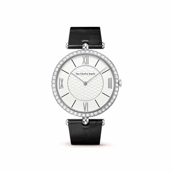 VAN CLEEF & ARPELS 38MM 18KT WHITE GOLD LADIES WATCH