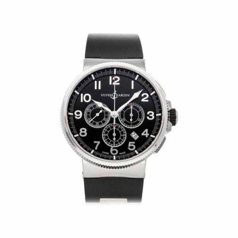 Ulysse Nardin Pre-owned Marine Chronograph Manufacture 43mm Stainless Steel Men's Watch