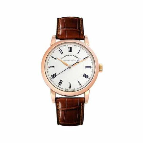 A LANGE & SOHNE RICHARD LANGE 40.5MM 18K ROSE GOLD MEN'S WATCH