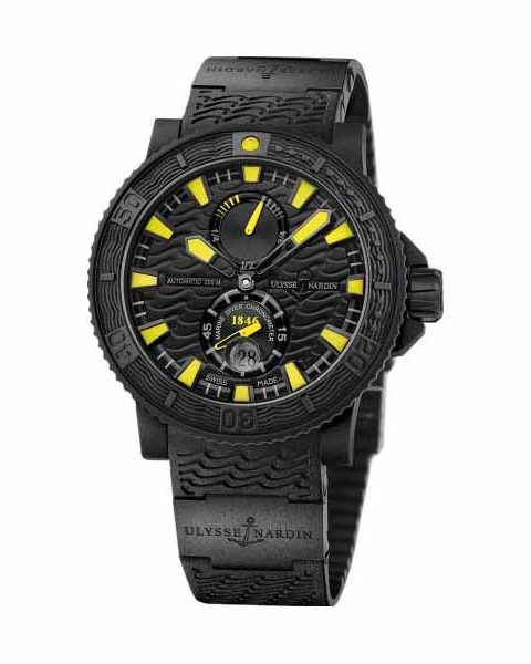 ULYSSE NARDIN MAXI MARINE DIVER BLACK SEA SPECIAL EDITION 45.8MM RUBBER CLAD STAINLESS STEEL MEN'S WATCH