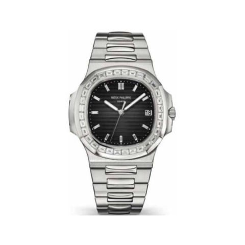 PATEK PHILIPPE NAUTILUS DIAMOND BEZEL PLATINUM LIMITED EDITION MEN'S WATCH Ref. 5711/110p-001