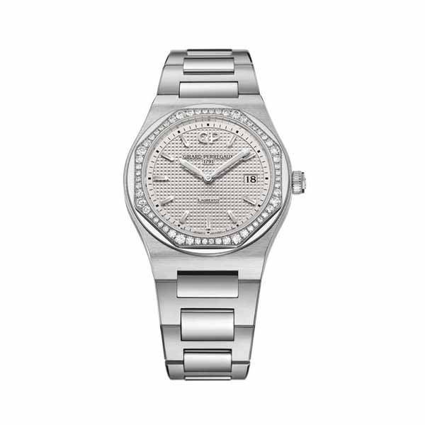 GIRARD PERREGAUX LAUREATO 34MM STAINLESS STEEL LADIES WATCH REF. 80189D11A131-11A