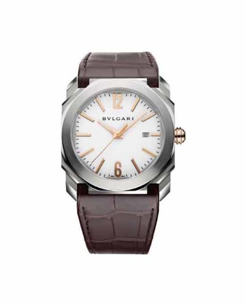 Bvlgari Pre-owned Octo Stainless Steel White Dial Men's Watch