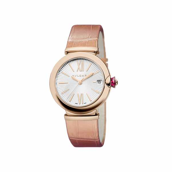 BVLGARI LVCEA 33MM 18K ROSE GOLD LADIES WATCH
