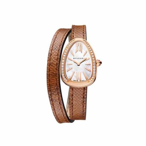 BVLGARI SERPENTI 27MM 18K ROSE GOLD LADIES WATCH