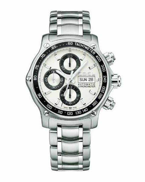 EBEL 1911 DISCOVERY CHRONOGRAPH 43MM STAINLESS STEEL MEN'S WATCH