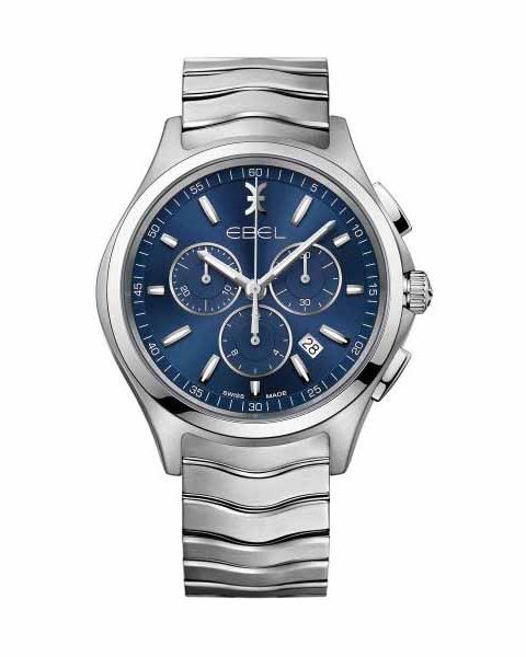 EBEL WAVE CHRONOGRAPH 42MM STAINLESS STEEL MEN'S WATCH