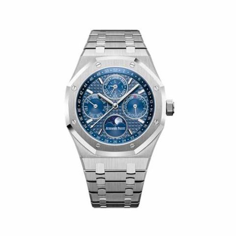 AUDEMARS PIGUET ROYAL OAK PERPETUAL CALENDAR BLUE DIAL 41MM STAINLESS STEEL MEN'S WATCH