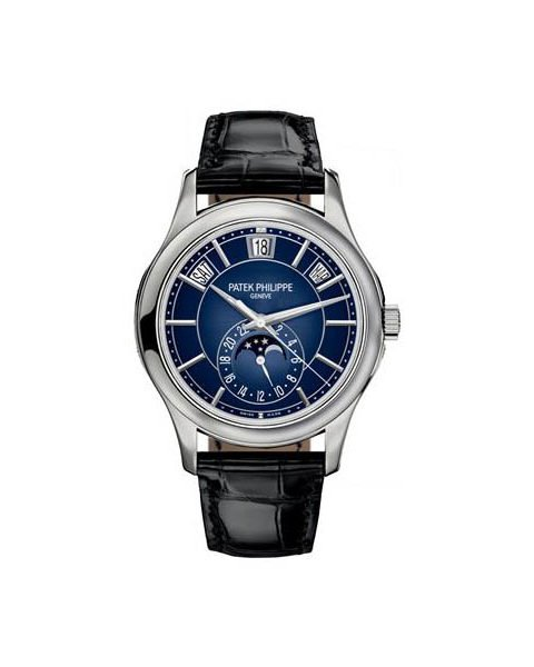 PATEK PHILIPPE COMPLICATIONS ANNUAL CALENDAR MOONPHASE18K WHITE GOLD Ref. 5205G-013