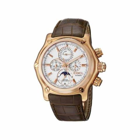 EBEL 1911 BTR PERPETUAL CALENDAR CHRONOGRAPH 44.5MM 18K ROSE GOLD MEN'S WATCH