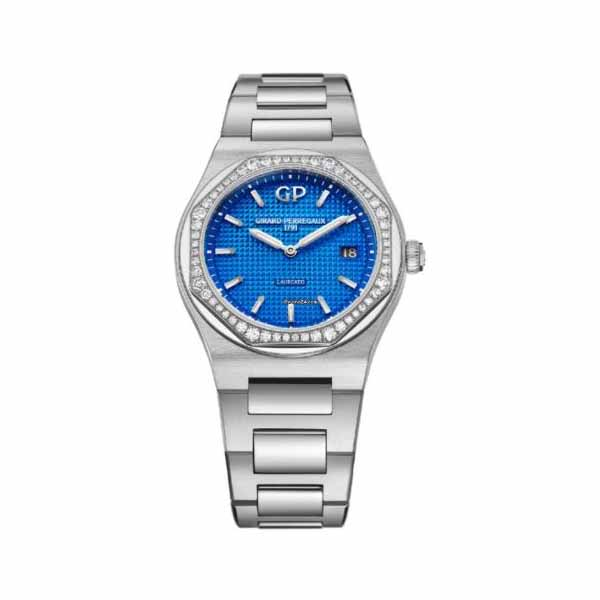 GIRARD PERREGAUX LAUREATO LIMITED EDITION 34MM STAINLESS STEEL LADIES WATCH