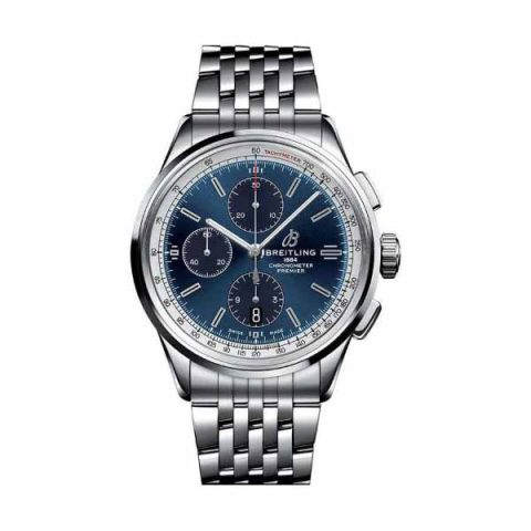BREITLING PREMIER CHRONOGRAPH 42MM STAINLESS STEEL MEN'S WATCH