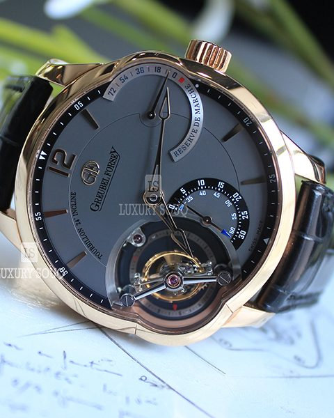 GREUBEL FORSEY GMT TOURBILLON 24 SECONDES 43.5MM 18K ROSE GOLD MEN'S WATCH