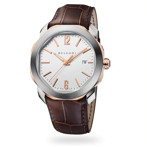 BVLGARI OCTO 41.5MM X 47.4MM STAINLESS STEEL WHITE DIAL MEN'S WATCH