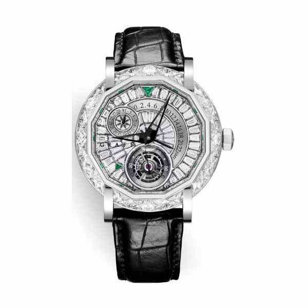 GRAFF TOURBILLON GMT 47MM 18K WHITE GOLD MEN'S WATCH